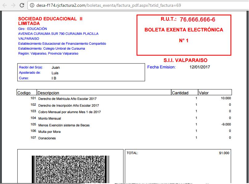 Boleta Electronica