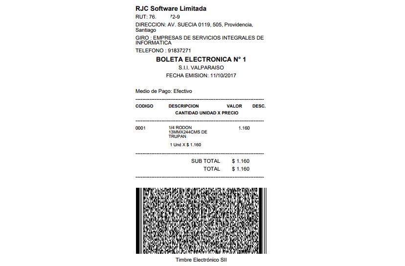 Boleta Electronica Factura Electronica 20 Dte 1 Empresa